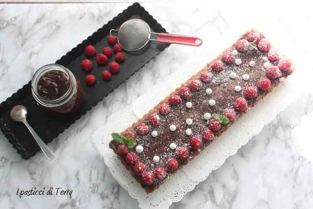 Crostata al cioccolato e lamponi (8)
