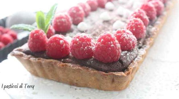 Crostata al cioccolato e lamponi (9)